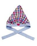 Children plaid scarf. Royalty Free Stock Image