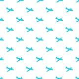 Children plane pattern, cartoon style Royalty Free Stock Photo