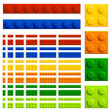 Children plastic bricks toy Royalty Free Stock Photography