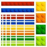 Children plastic bricks toy Royalty Free Stock Photography