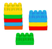 Children plastic bricks toy Stock Images