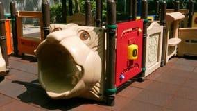 Children plastic castle playground. In the park Stock Photos