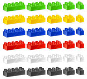 Children plastic constructor Royalty Free Stock Image