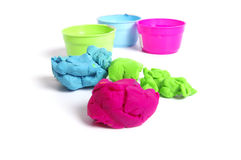 Children plasticine Royalty Free Stock Photography