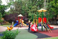 Children Play Area in Park Spain stock photos