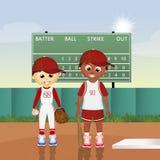 Children play baseball Stock Image
