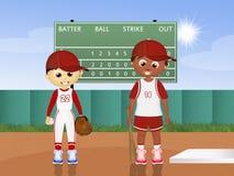 Children play baseball Royalty Free Stock Photos