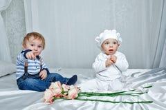 Children play bedroom Stock Images