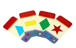 Children play cards Stock Photo