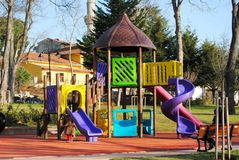 Children play the child's ground in park. Children play the child's ground in a municipal park Royalty Free Stock Photography