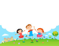 Children play clouds design over sky background vector illustration Stock Images