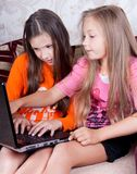Children play at the computer Stock Image