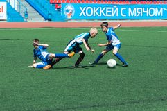 Children play football. Royalty Free Stock Image