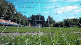 Children play football stock video