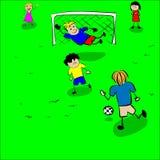 Children play football vector. Illustration Royalty Free Stock Photos