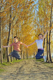Children play in forest Royalty Free Stock Photos