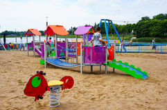 Children on play ground Royalty Free Stock Images