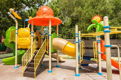 Children play ground in park of thailand. Royalty Free Stock Photos