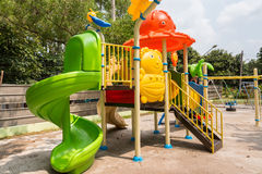 Children play ground in park of thailand. Royalty Free Stock Image