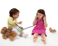 Children play hospital Stock Photo