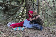 The children in the forest Royalty Free Stock Photos