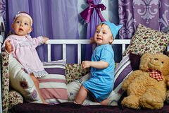 Children play in nursery Royalty Free Stock Image