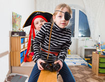 Children play pirates Stock Photography
