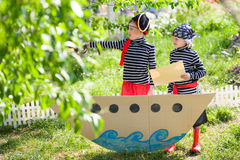 Children play pirates Stock Photos