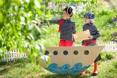 Children play pirates Stock Photos