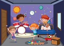 Children play in playroom. Illustration royalty free illustration