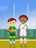 Children play rugby. Illustration of children play rugby Stock Photos