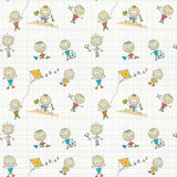 Children play seamless wallpaper Stock Photo