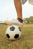 Children play soccer. Royalty Free Stock Images