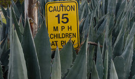 Children at play speed limit sign Royalty Free Stock Image