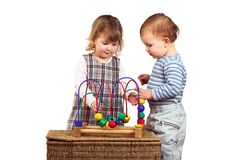 Children play together stock photos