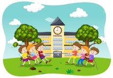 Children Play Tug of War. Illustration Stock Images