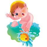 Children play in the water Royalty Free Stock Photography