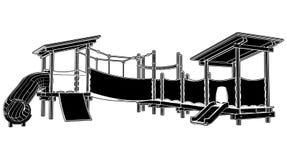 Children Playground 02. Children park Playground Illustration Vector Royalty Free Stock Photography