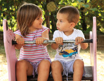 Children at the playground Royalty Free Stock Photos
