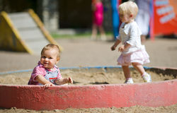 Children on playground Royalty Free Stock Photos