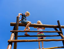 Children at the playground Stock Photos