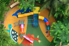 Children playground. A view from top of children playground Stock Photography