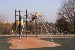 Children playground. Special children climbing playground in a park stock images