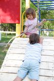 Children on playground Royalty Free Stock Images
