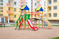 2 children playground Royaltyfri Foto