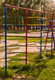 Children playground. Children's playground on a sunny day Stock Photos
