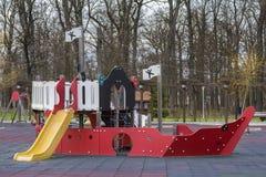 2 children playground Στοκ φωτογραφίες με δικαίωμα ελεύθερης χρήσης