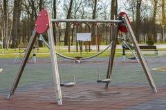 2 children playground Royaltyfri Foto