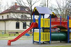 2 children playground Royaltyfri Bild