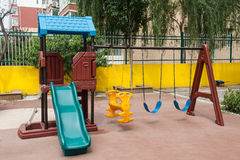 2 children playground 库存照片